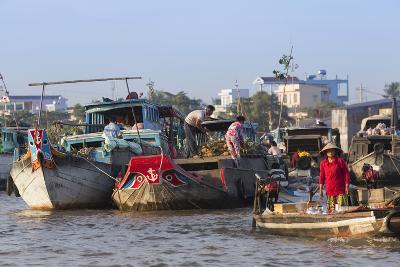 Cai Rang Floating Market, Can Tho, Mekong Delta, Vietnam, Indochina, Southeast Asia, Asia-Ian Trower-Photographic Print