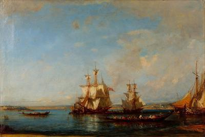 Caiques and Sailboats at the Bosphorus, Second Half of the 19th C-Felix-Francois George Ziem-Giclee Print