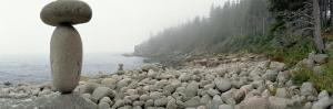 Cairn on the Rocky Beach, Acadia National Park, Maine, USA