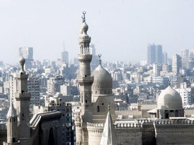 Cairo City, the Mosque of Sultan Hassan--Photographic Print