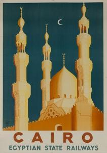 Cairo Egyptian State Ralwats Travel Poster Minarets
