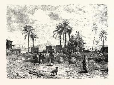 Cairo; from the Left Bank of the Nile, Egypt, 1879--Giclee Print