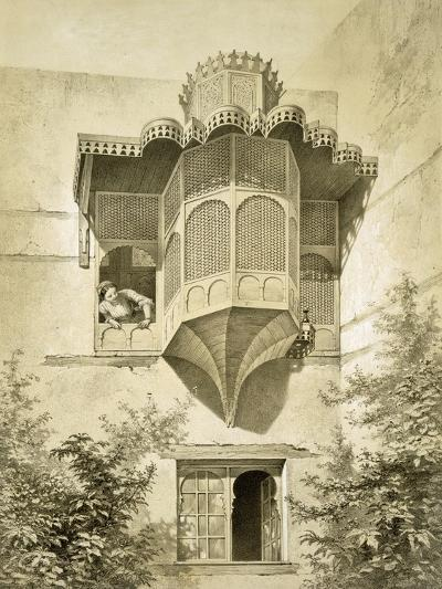 Cairo: House Called Beyt El-Emyr (A Little Dilapidated), 19th Century (Colour Litho)-Emile Prisse d'Avennes-Giclee Print