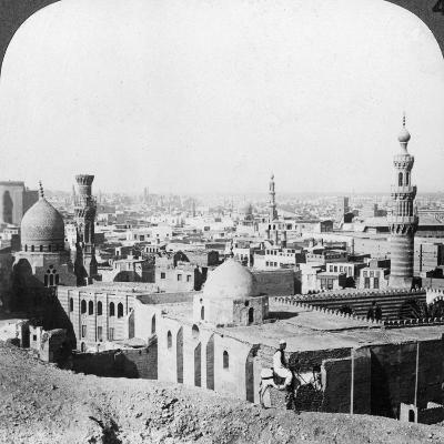 Cairo, Looking South West, across the City to the Pyramids, Egypt, 1905-Underwood & Underwood-Photographic Print