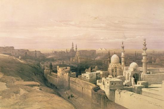 """Cairo, Looking West, Book Illustration from """"Sketches in Nubia"""", 1846-49-David Roberts-Giclee Print"""