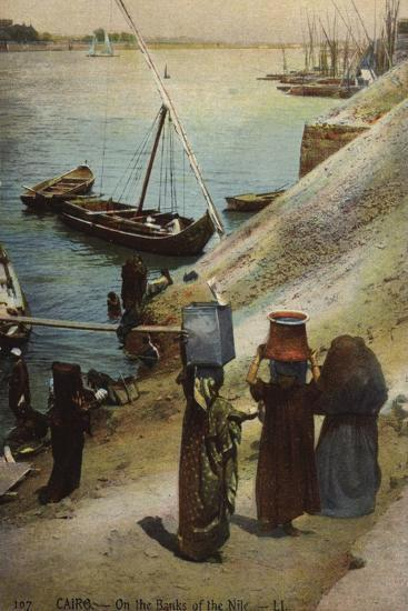 Cairo - on the Banks of the Nile--Photographic Print