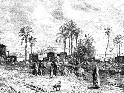 Cairo Seen of Left Bank of the Nile, 1881--Giclee Print