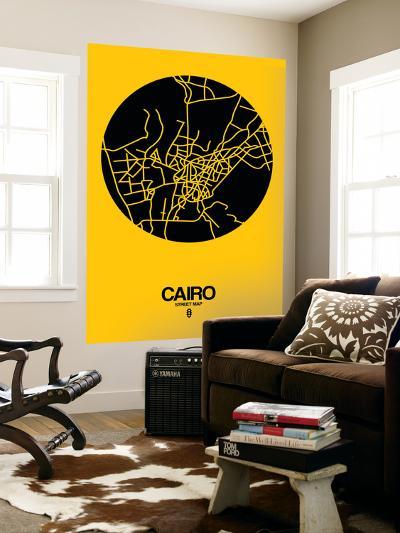 Cairo Street Map Yellow-NaxArt-Wall Mural
