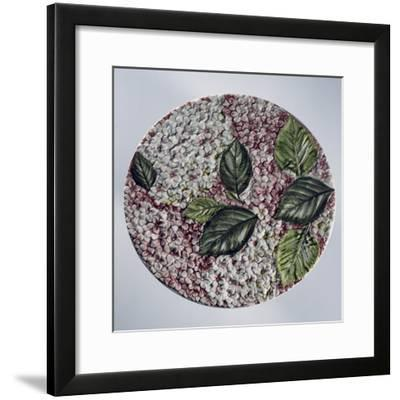 Cake Platter Decorated with Hydrangea Flowers in Relief--Framed Giclee Print