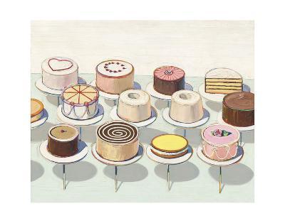 Cakes, 1963-Wayne Thiebaud-Art Print