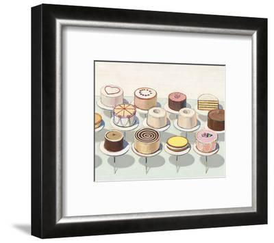 Cakes, 1963-Wayne Thiebaud-Framed Art Print