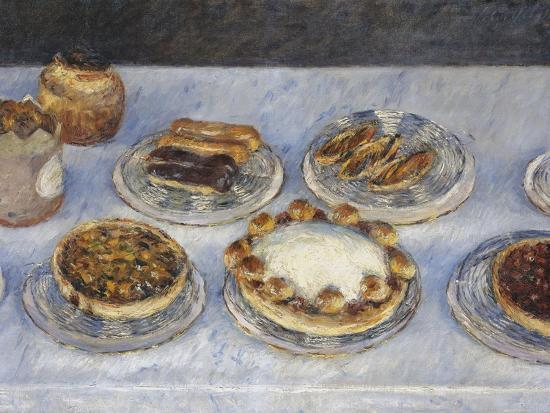 Cakes; Gateaux-Gustave Caillebotte-Giclee Print