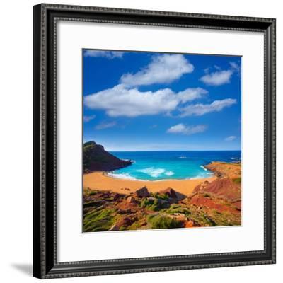 Cala Pilar Beach in Menorca Alfuri De Dalt at Balearic Islands of Spain-Natureworld-Framed Photographic Print