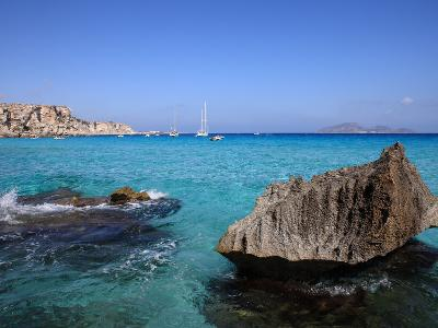 Cala Rossa, Trapani, Favignana Island, Sicily, Italy, Mediterranean, Europe-Vincenzo Lombardo-Photographic Print