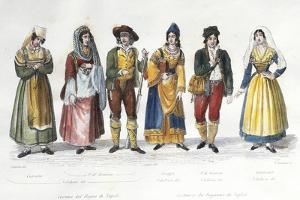Calabrian Costumes, Italy, 18th Century