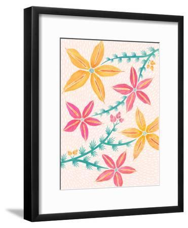 Caladenia Orchids-Modern Tropical-Framed Art Print