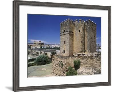 Calahorra Tower (Unesco World Heritage List, 1994) in Cordoba, Andalusia, Spain, 12th Century--Framed Giclee Print
