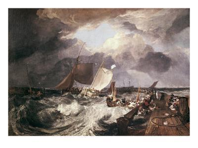 Calais Pier-J^ M^ W^ Turner-Art Print