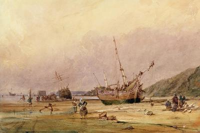 Calais Sands, 1831-Francois Louis Thomas Francia-Giclee Print