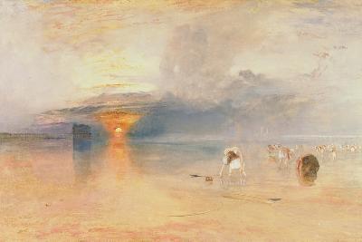 Calais Sands at Low Water, Poissards Gathering Bait, 1830-J^ M^ W^ Turner-Giclee Print