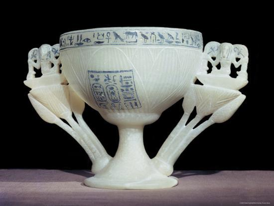 Calcite Drinking Cup In Shape Of Lotus Flower Thebes Egypt