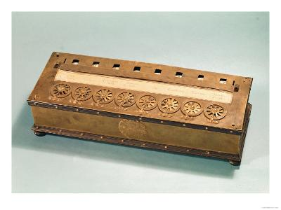Calculating Machine Invented by Blaise Pascal (1623-62)--Giclee Print