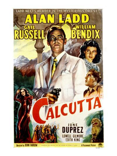 Calcutta, Alan Ladd, Gail Russell, William Bendix, June Duprez, 1947--Photo