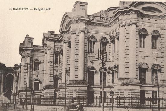 'Calcutta - Bengal Bank', c1900-Unknown-Photographic Print