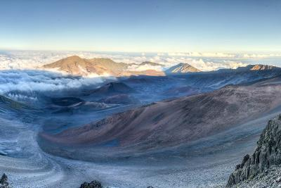 Caldera of the Haleakala Volcano (Maui, Hawaii)-demerzel21-Photographic Print