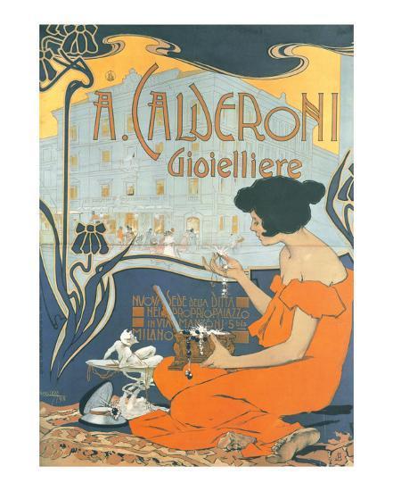 Calderoni Gioielliere 1898-Adolfo Hohenstein-Art Print