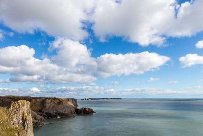 Caldey Island from the Coast Near Tenby, Pembrokeshire, Wales, UK-Derek Phillips-Photographic Print