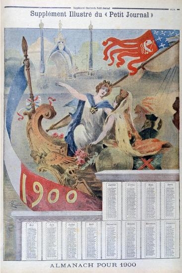 Calendar for 1900--Giclee Print