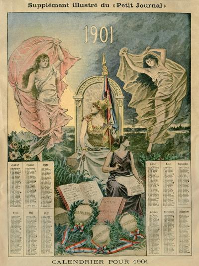 Calendar for 1901, Illustration from the Illustrated Supplement of the 'Petit Journal'--Giclee Print