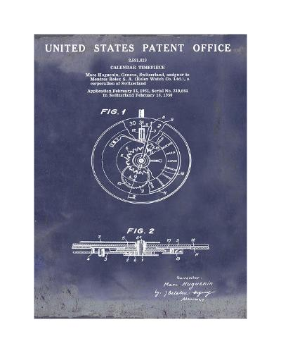 Calendar Time Piece, 1950-Bill Cannon-Giclee Print