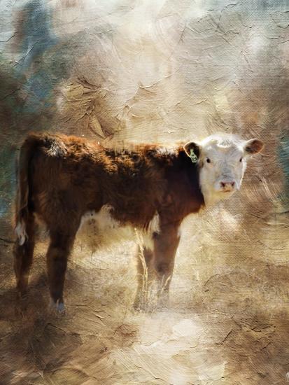 Calf in the Sunday Sun-Jai Johnson-Giclee Print