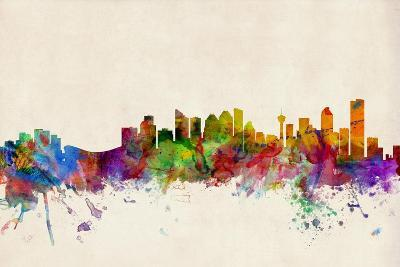 Calgary Canada Skyline-Michael Tompsett-Art Print