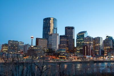 Calgary Skyline at Night-Jeff Whyte Photography-Photographic Print
