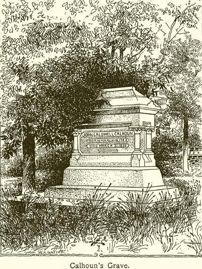 Calhoun's Grave--Giclee Print