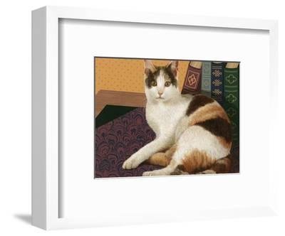 Calico Cat with Books