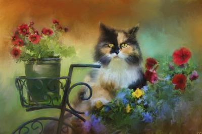 Calico in the Garden-Jai Johnson-Giclee Print