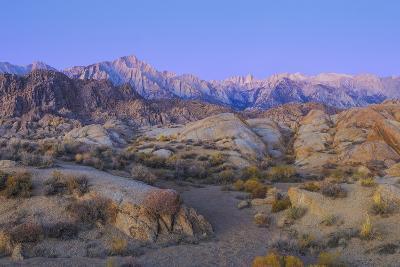 California, Alabama Hills. Sunrise on Lone Pine Peak and Mt Whitney-Don Paulson-Photographic Print