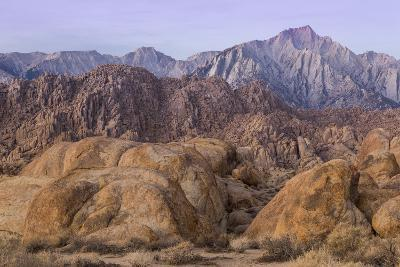 California, Alabama Hills. View of Lone Pine Peak and Mount Whitney-Don Paulson-Photographic Print