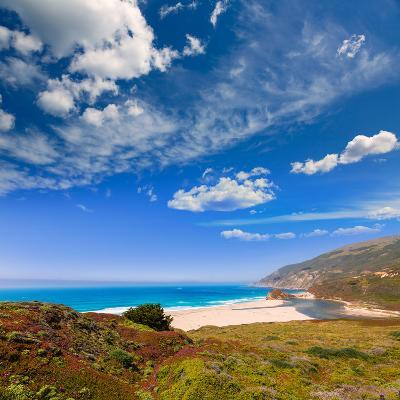 California Beach in Big Sur in Monterey Pacific Highway along State Route 1 US-holbox-Photographic Print