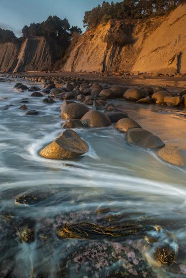 California Bowling Ball Beach At Low Tide At Sunset In Mendocino