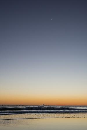 California, Carpinteria, Santa Barbara Channel, Beach at a Night-Alison Jones-Photographic Print