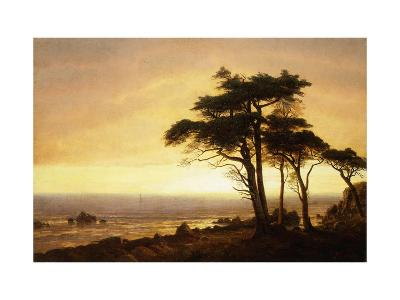 California Coast-Albert Bierstadt-Giclee Print