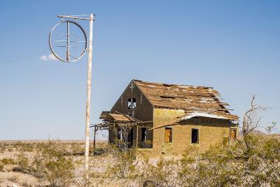 California, Drought Spotlight 3 Route 66 Expedition, Ludlow, Abandon Building-Alison Jones-Photographic Print