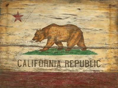 California Flag Vintage Wood Sign