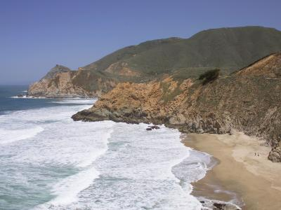 California, Half Moon Bay, Even on a Clear, Sunny Day, Devil's Slide Is a Tough Stretch of Road--Photographic Print