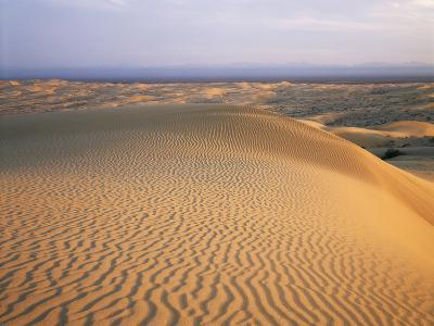 California, Imperial Sand Dunes, Patterns of Glamis Sand Dunes-Christopher Talbot Frank-Photographic Print